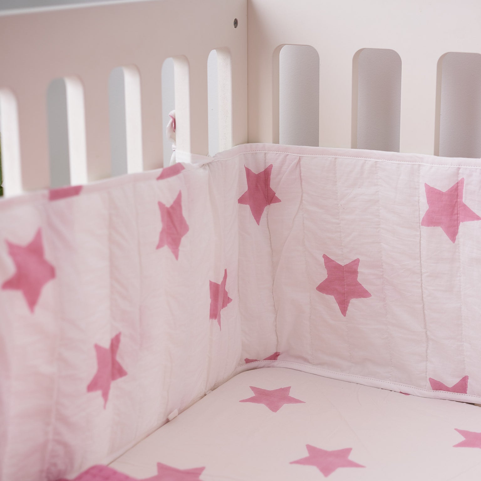 Pastel pink cot bed fitted sheet