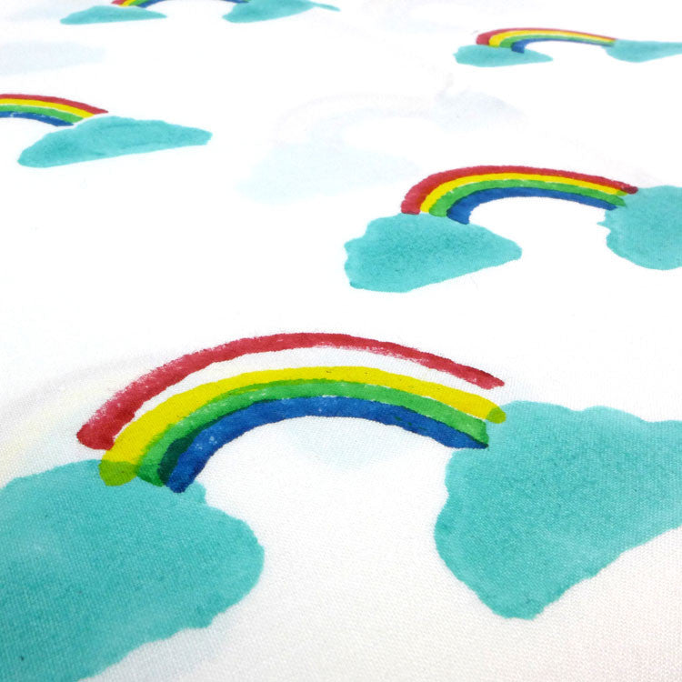 Rainbow toddler cot bed duvet set
