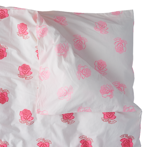 Rose single duvet cover