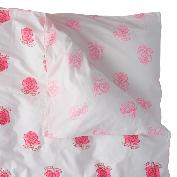 Rose double duvet cover