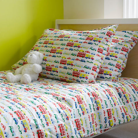 Car & buses single bedding set