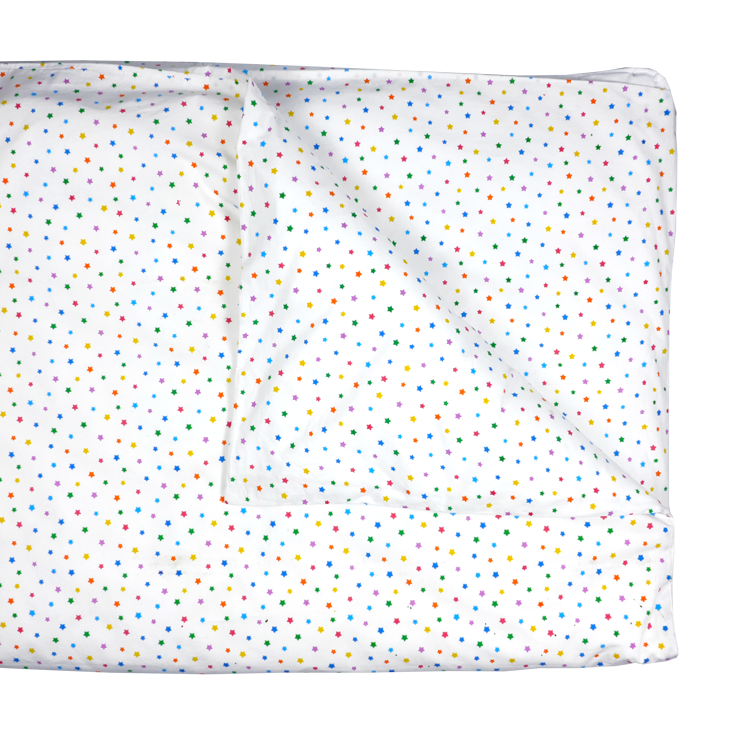 Multicolour star single bedding set