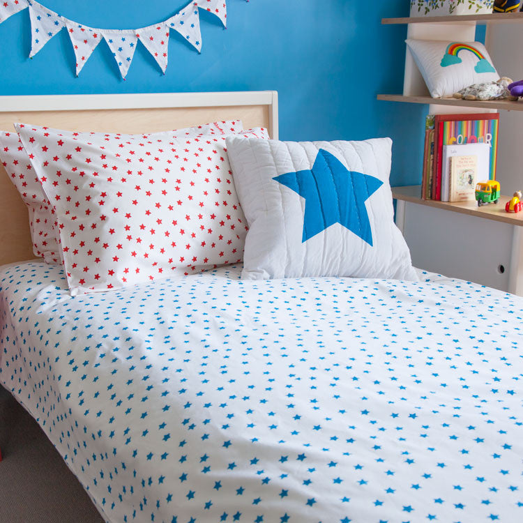 Blue star bedding set
