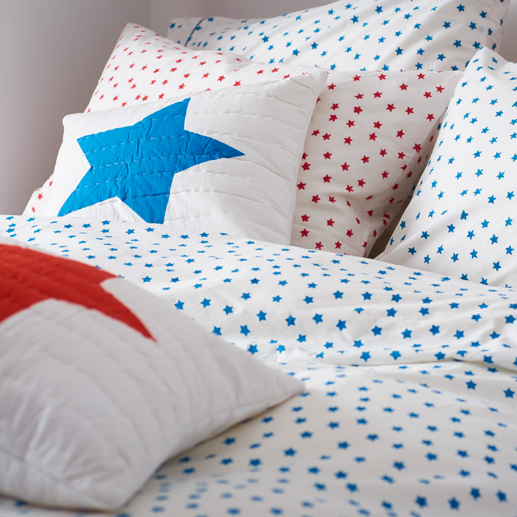 Blue star double duvet cover