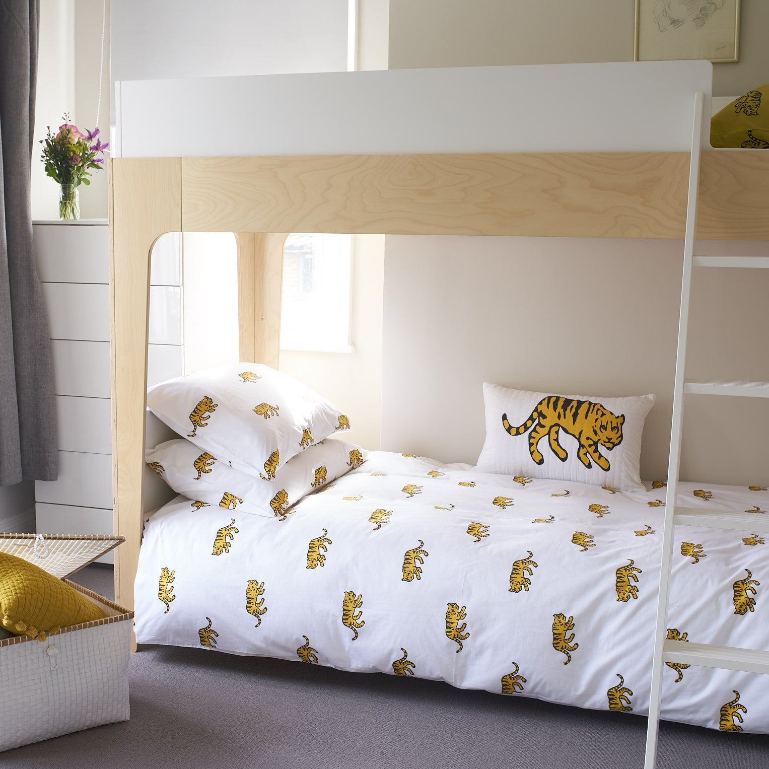 Yellow Tiger single pillowcase