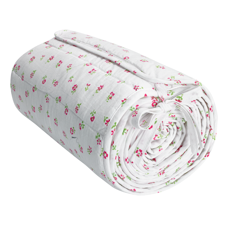 Scattered floral cot bed fitted sheet