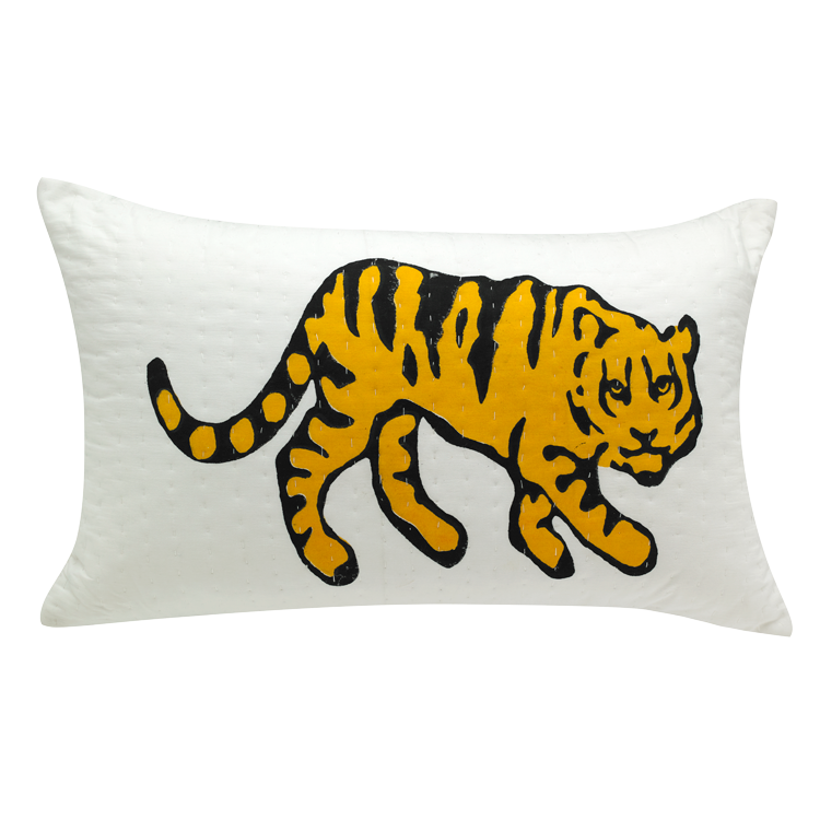 Tiger printed cushion