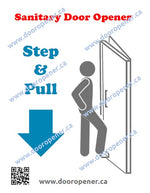 Load image into Gallery viewer, Stepawayer©  Door Sticker. Step and Pull type aka 'StepnPull'. Made in Canada. DoorOpener Canada.