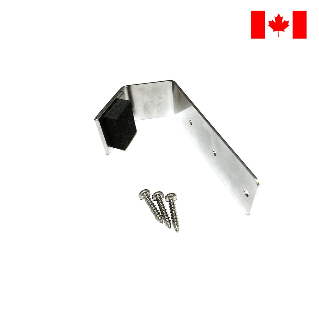 'Toe Pull' Sanitary Foot Door Opener. Use your toe to pull the door without touching dirty handles. Prevent cross-contamination and spread of COVID-19. Made in Canada. DoorOpener Canada.