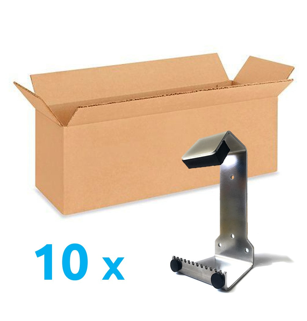 Value Pack 10x HybridPull© Sanitary Foot Door Opener. Step and Pull and Toe Pull types in one unit. Made in Canada. DoorOpener Canada.