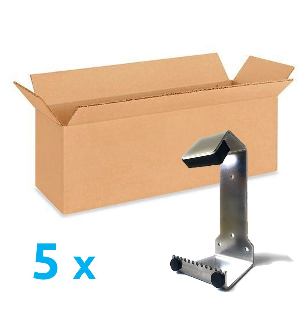 Value Pack 5x HybridPull© Sanitary Foot Door Opener. Step and Pull and Toe Pull types in one unit. Made in Canada. DoorOpener Canada.