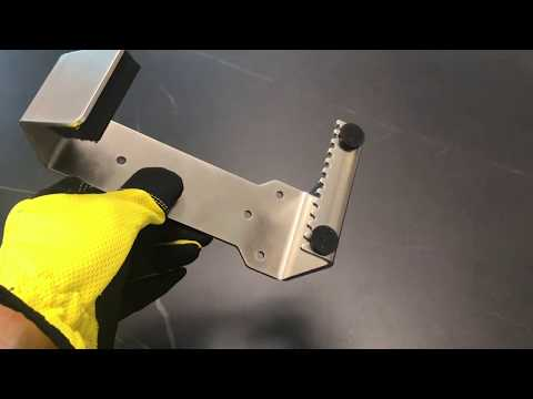 Value Pack 10x HybridPull© Sanitary Foot Door Opener demo video. Step and Pull and Toe Pull types in one unit. Made in Canada. DoorOpener Canada.