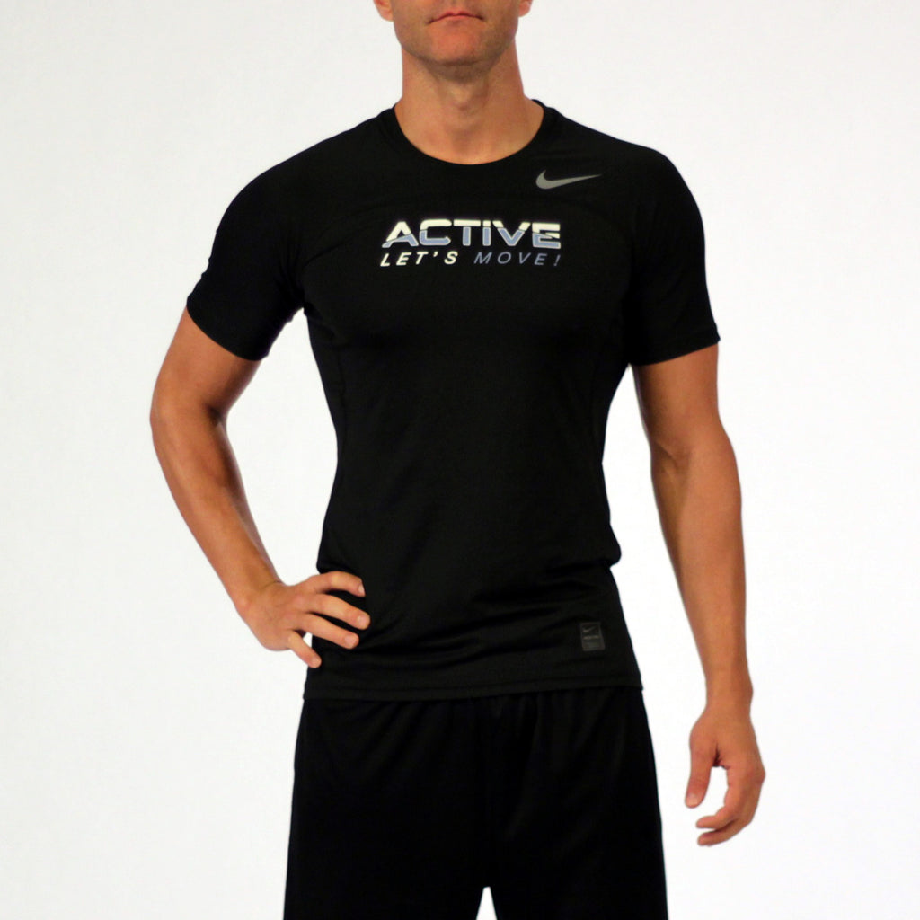 MOSSA Group Active Men's Let's Move Nike Pro HyperCool Shortsleeve