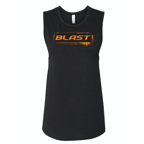 MOSSA Group Blast Women's BLAST Stencil Bella + Canvas Jersey Muscle Tank