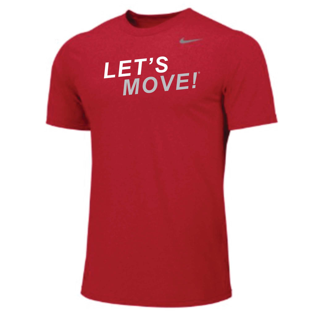 MOSSA Men's LET'S MOVE STK Nike Team Short Sleeve Legend Crew