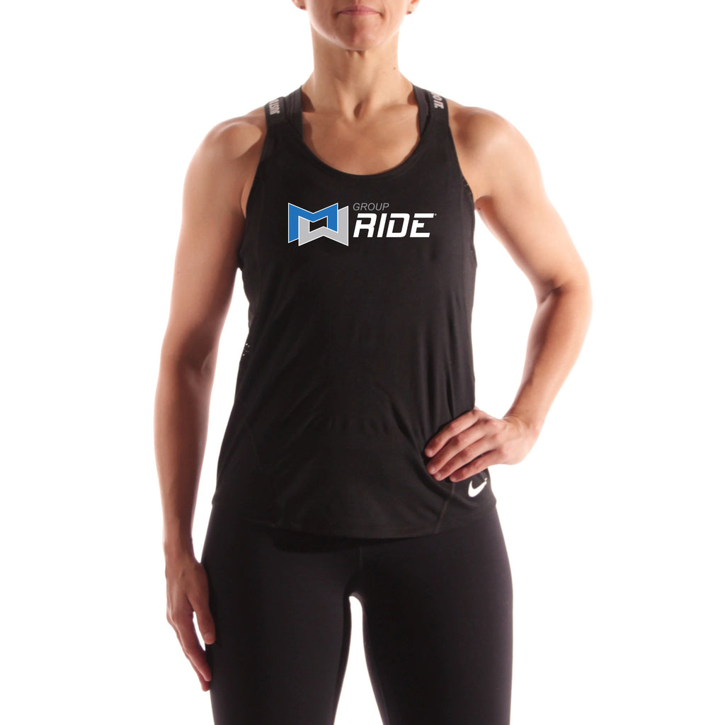 MOSSA Group Ride Women's Full Logo Nike Dri-Fit Elastika Training Tank Top