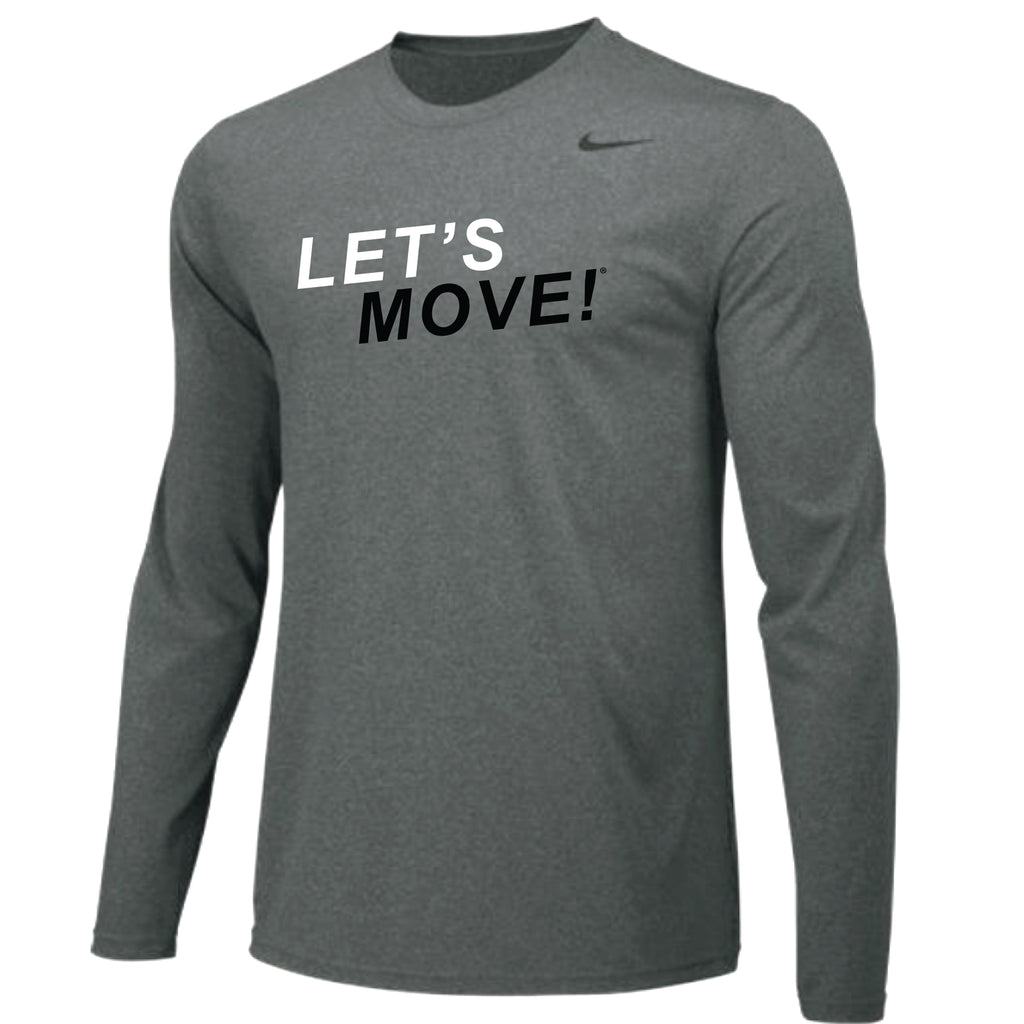MOSSA Men's Let's Move Nike Team Longsleeve Legend Crew