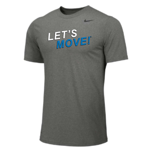 MOSSA Men's LET'S MOVE STKR Nike Team Short Sleeve Legend Crew