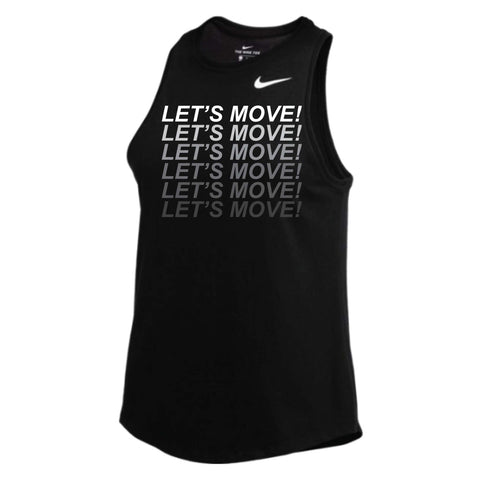 MOSSA Women's LET'S MOVE Gradient Nike Dry High Neck Tank