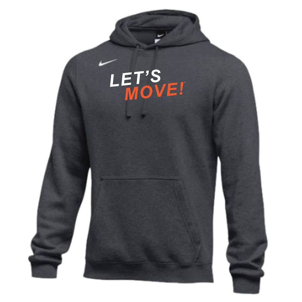MOSSA Men's LET'S MOVE Nike Club Fleece Hoodie