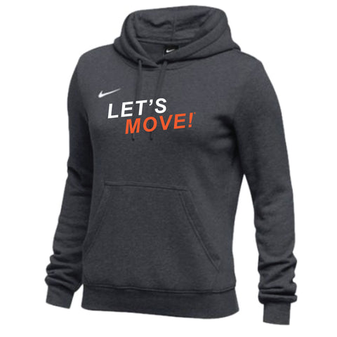 MOSSA Women's LET'S MOVE Nike Club Fleece Hoodie