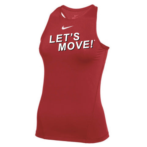 MOSSA Women's LET'S MOVE! Pro Tank All Over Mesh