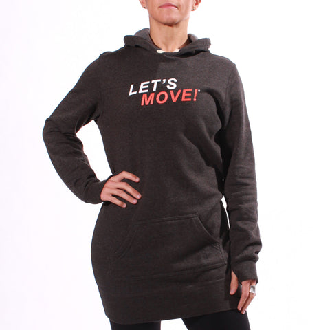 MOSSA Women's LET'S MOVE Hooded Pullover Dress