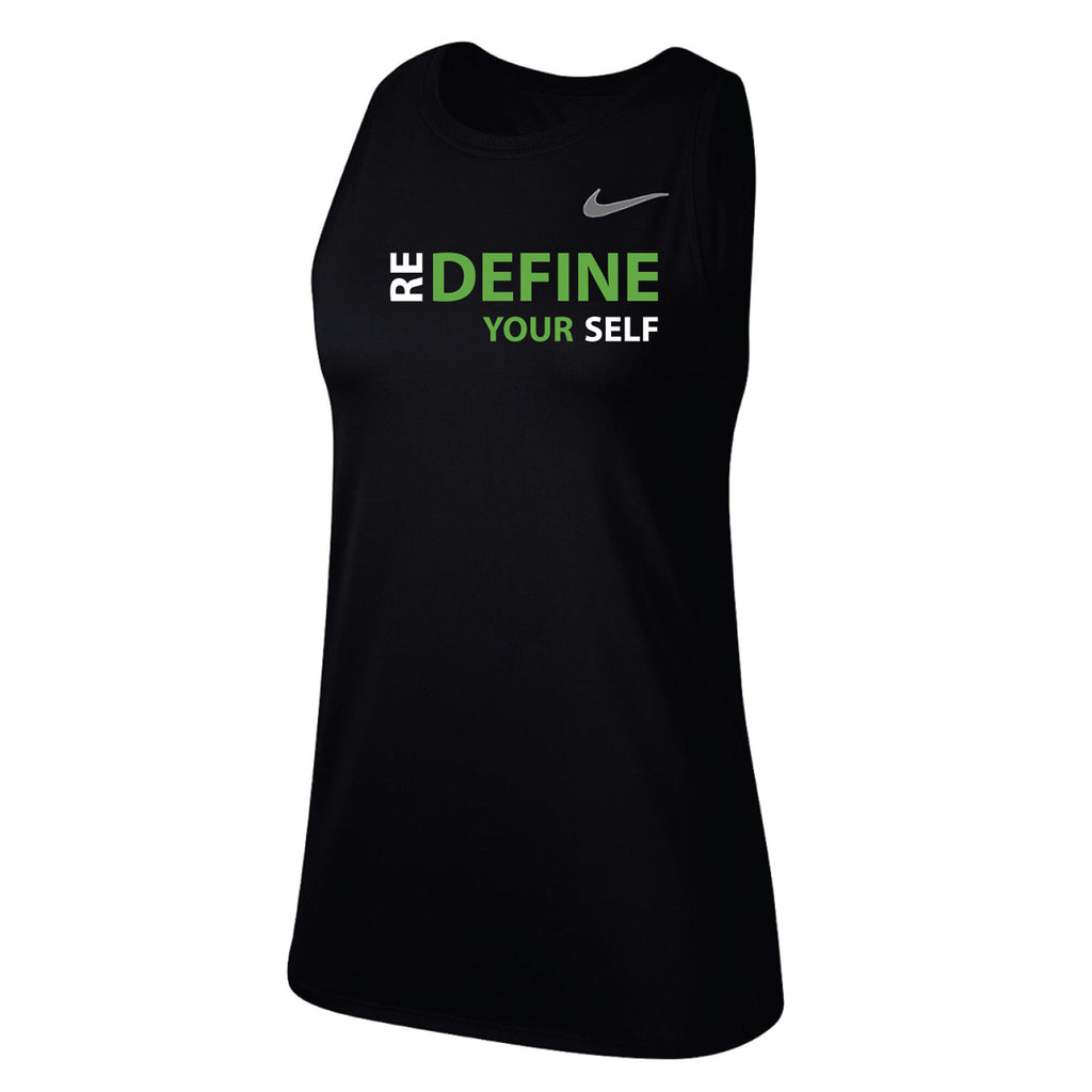 MOSSA Group Centergy Women's REDEFINE YOUR SELF Nike Dry Legend Essential Swoosh Tank