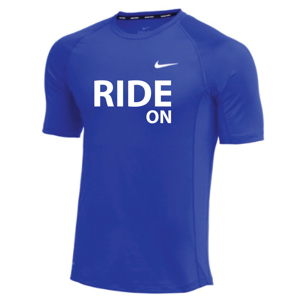 MOSSA Men's RIDE ON Nike Pro Fitted Short Sleeve Top