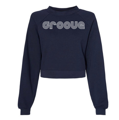 MOSSA Group Groove Women's GROOVE Bella + Canvas Cropped Raglan Pullover Fleece