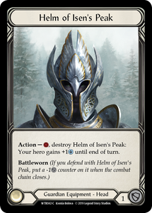 Helm of Isen's Peak | Common [Cold Foil] - Alpha Print