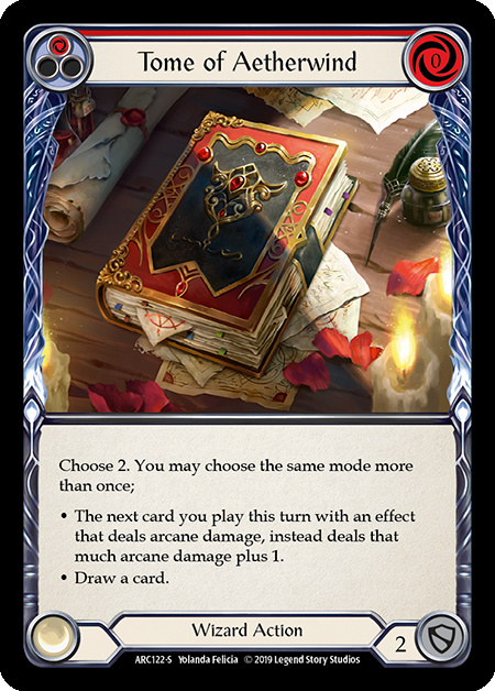 Tome of Aetherwind | Super Rare [Rainbow Foil] - 1st Edition