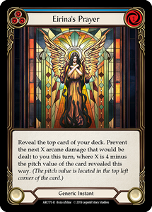 Eirina's Prayer (Blue) | Rare [Rainbow Foil] - 1st Edition