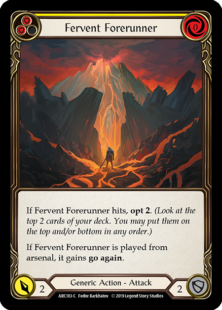 Fervent Forerunner (Yellow) | Common [Rainbow Foil] - 1st Edition