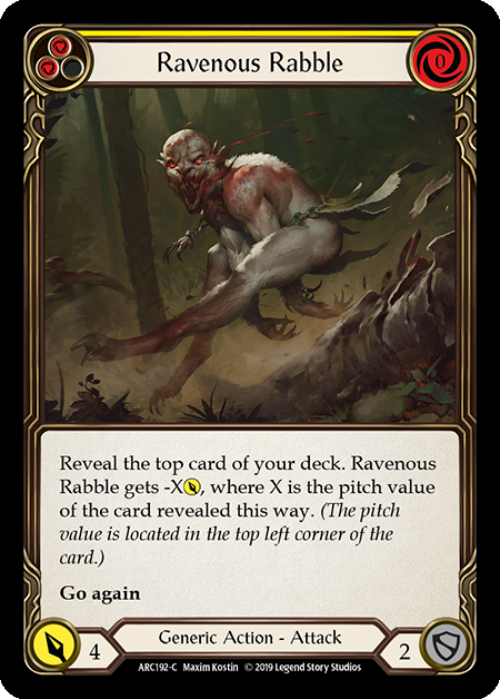 Ravenous Rabble (Yellow) | Common [Rainbow Foil]