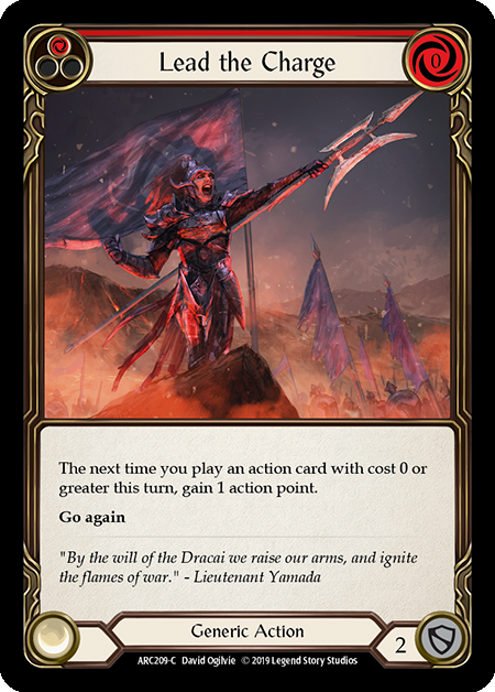 Lead the Charge (Red) | Common [Rainbow Foil] - 1st Edition