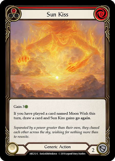 Sun Kiss (Red) | Common [Rainbow Foil] - 1st Edition