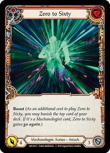 Zero to Sixty (Red) | Common [Rainbow Foil] - 1st Edition