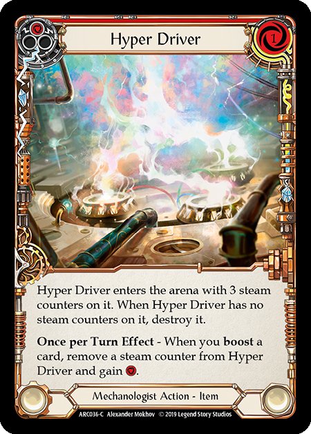 Hyper Driver (Red) | Common [Rainbow Foil] - 1st Edition