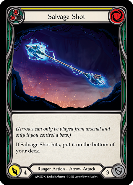 Salvage Shot (Yellow) | Common [Rainbow Foil] - 1st Edition