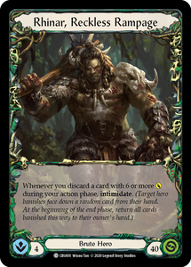 Rhinar, Reckless Rampage | Common - 1st Edition