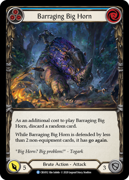 Barraging Big Horn (Blue) | Rare - 1st Edition