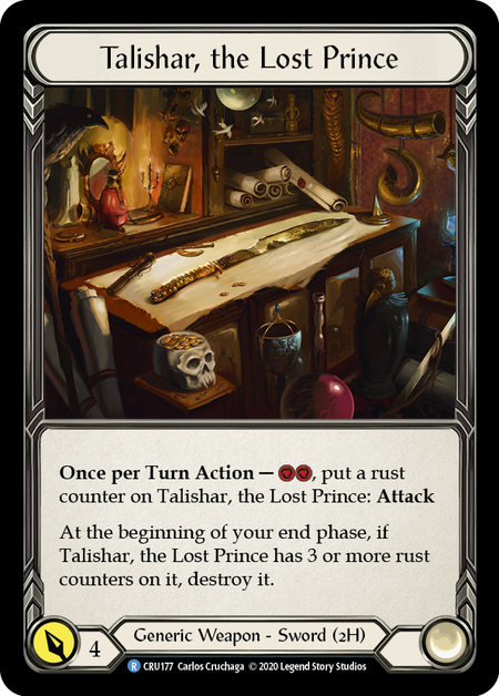 Talishar, the Lost Prince | Rare - 1st Edition