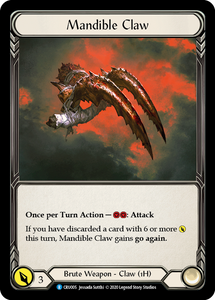 Mandible Claw | Rare [Cold Foil] - 1st Edition