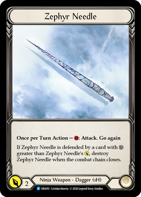 Zephyr Needle | Rare [Cold Foil] - 1st Edition
