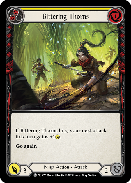 Bittering Thorns | Common [Rainbow Foil] - 1st Edition