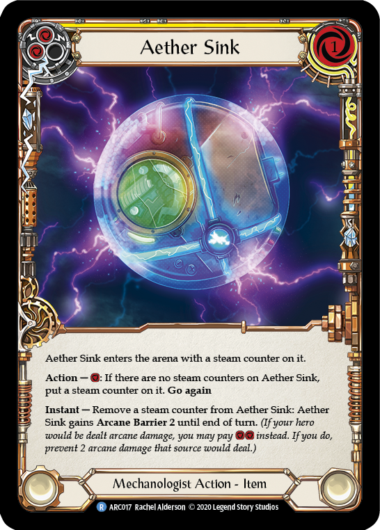 Aether Sink (Yellow) | Rare [Rainbow Foil] - Unlimited