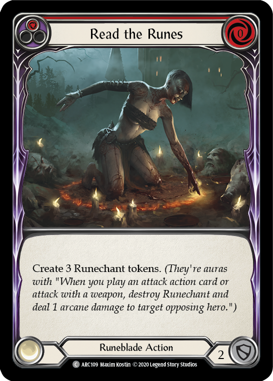 Read the Runes (Red) | Common [Rainbow Foil] - Unlimited