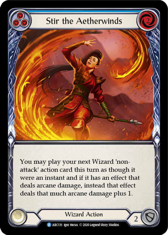Stir the Aetherwinds (Blue) | Rare [Rainbow Foil] - Unlimited