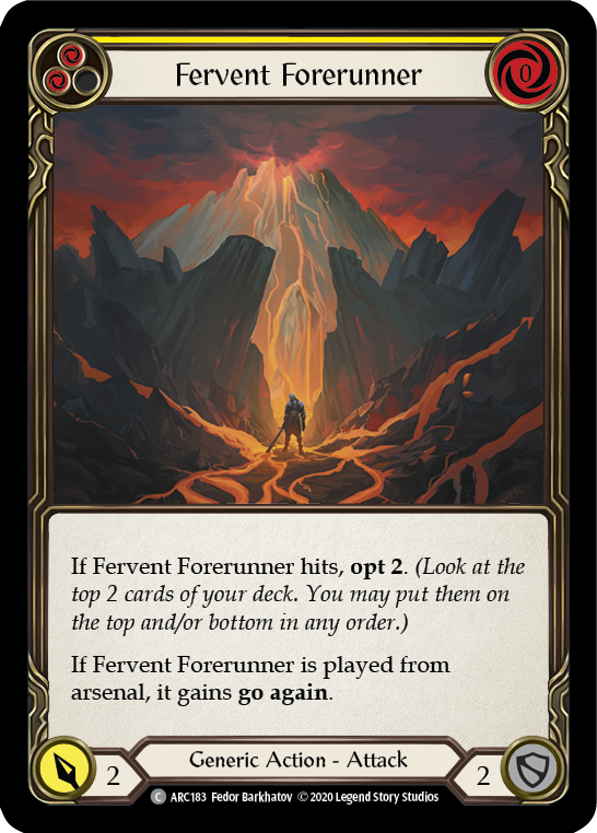 Fervent Forerunner (Yellow) | Common - Unlimited